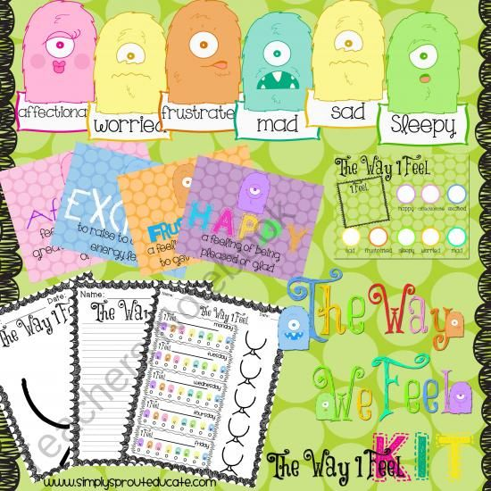 The Way I Feel: Kit about Emotions product from Simply-Sprout on TeachersNotebook.com