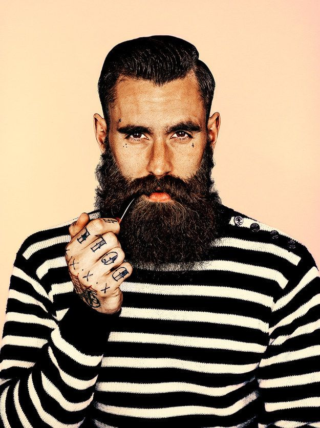 A series of beard portraits has gone on display at Somerset House in central London.