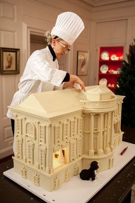 Recipes for the White House's winter green salad, sweet potato souffle, and peppermint fudge cookies.