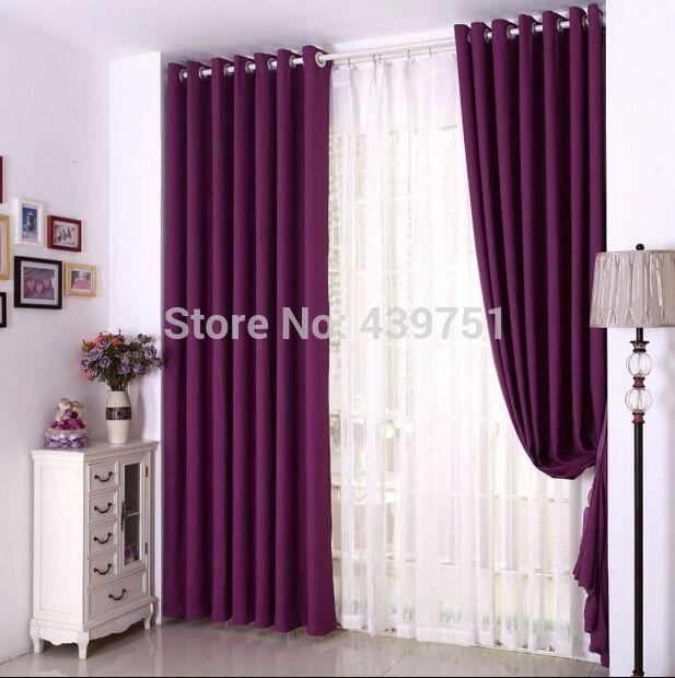 mooie paarse gordijnen