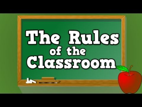 The Rules of the Classroom (song for kids about the 6 rules of the classroom) - Harry Kindergarten Music