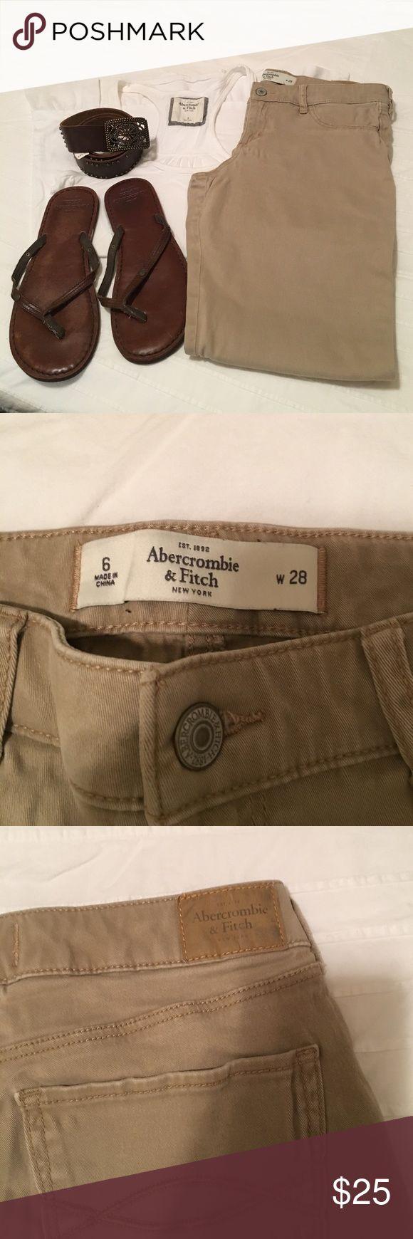 Abercrombie kaki skinny jeans Abercrombie jeans Abercrombie & Fitch Pants Skinny