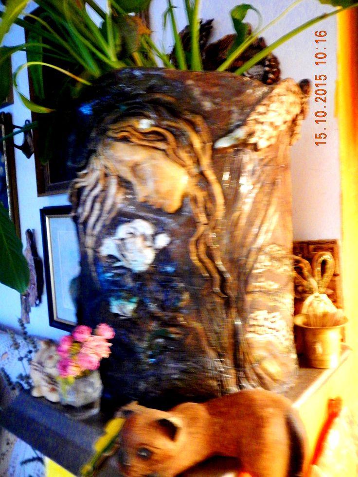 keramika...květináč coby díkůvzdání mamince,,..!
