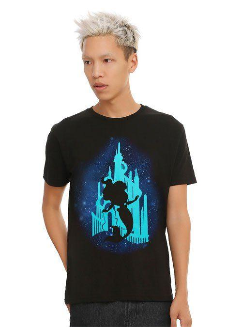 Disney's The Little Mermaid Castle Silhouette Men's T-Shirt
