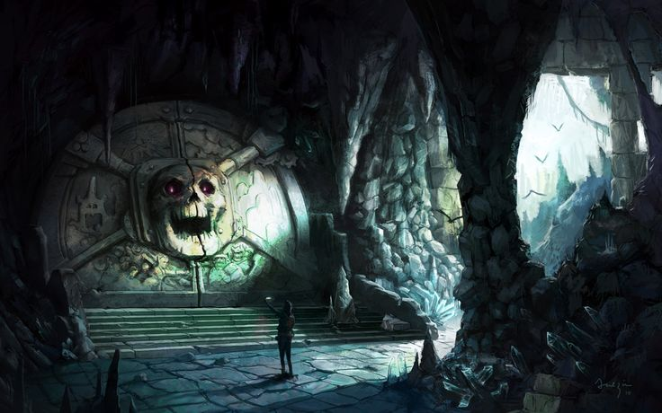 A great Skull Crested Vault Door, found in the under ruins of Xal Jarak, by the heroes of Second Chances