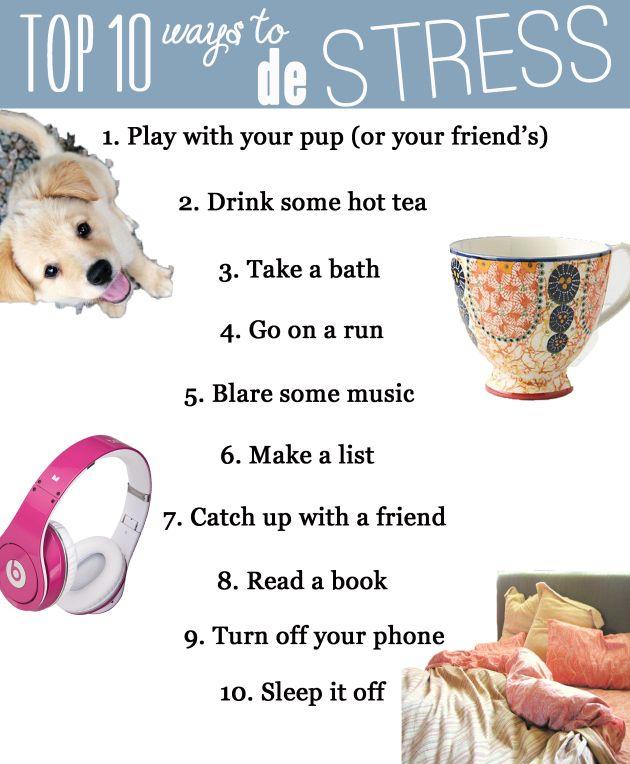 10 ways to de stress