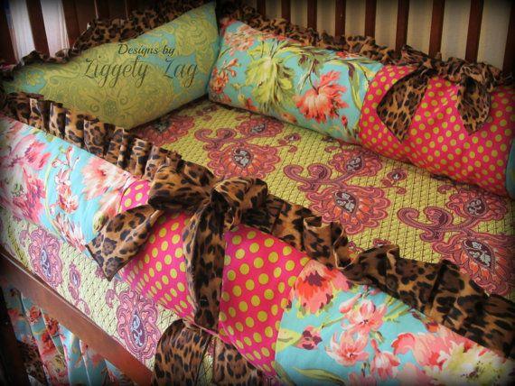 Baby Bedding Crib Set by Ziggetyzag on Etsy