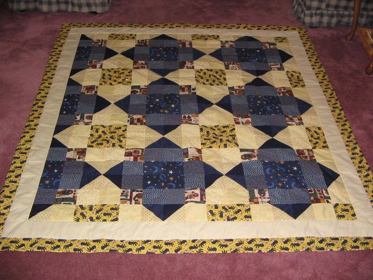 Yellow and Blue QuiltQuilting Sewing, Quilt Sewing, Quilt Ideas, Blue Quilt, Quilt Block Quilt Quilt, Quilt Stuff, Quilt Spill, Quilt Blocks Quilts Quilt, Quilt Blocksquiltsquilt