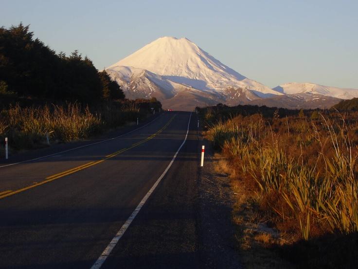 Mt Ngauruhoe in winter