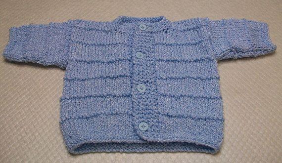 Azul Rebeca bebé suéter azul bebé azul bebé recién nacido