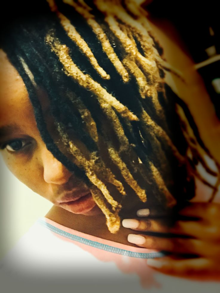 #dreadlocks #goldandblack