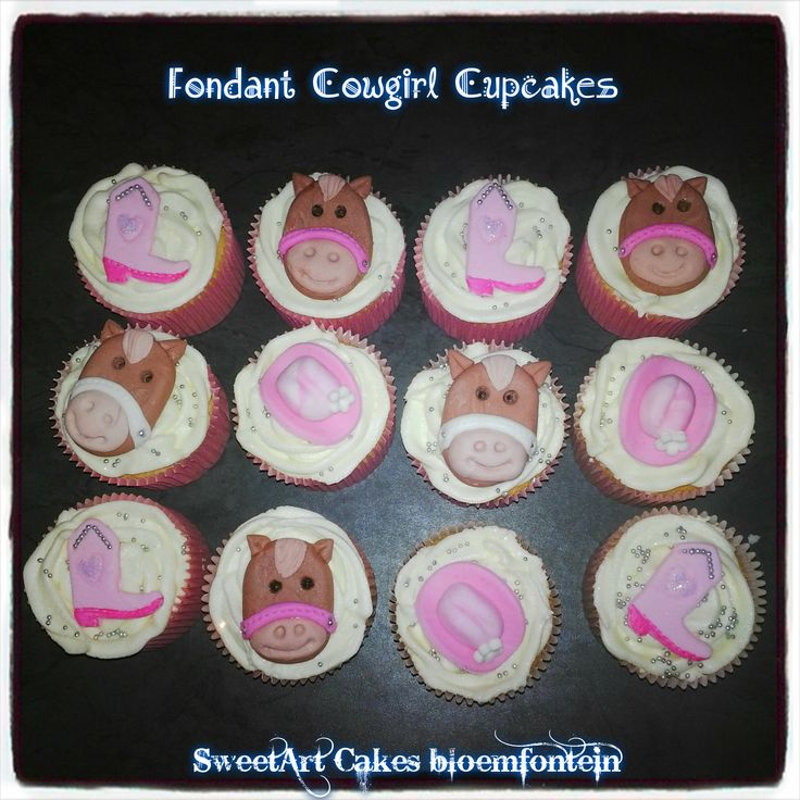 Horse cupcake toppers @ R7 each Cowboy hat toppers @ R5 each (available in any color) (All figurines contain Tylose which preserves the figurine for an indefinite period of time) For more information & orders email SweetArtBfn@gmail.com or Call Lola 0712127786.