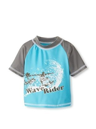 56% OFF Rugged Bear Baby-Boys Infant Wave Rider Rash Guard (Turquoise)