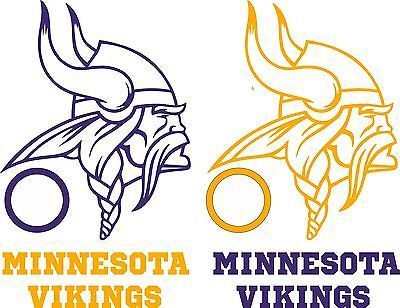 Minnesota Vikings Cornhole Set of 6 Vinyl Decals Stickers