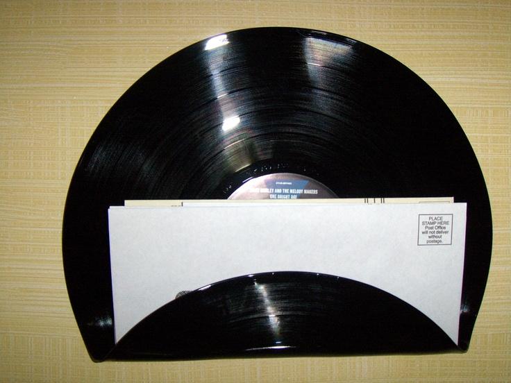 MAIL HOLDER SORTER Record Album - Ziggy Marley. $10.00, via Etsy.