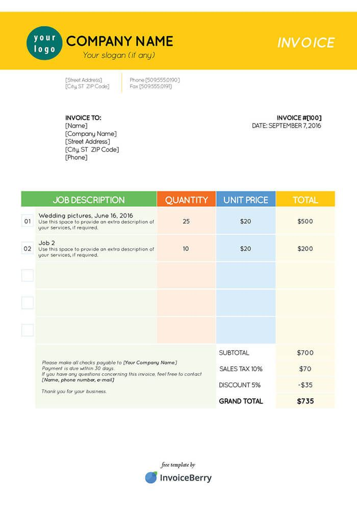40 best Invoice templates images on Pinterest Invoice template
