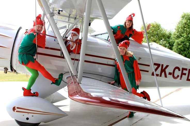 Classic Flights and Warbirds & Wheels are bringing Christmas joy to Wanaka Airport this Saturday 13 December flying Santa and his elves in especially for a visit.
