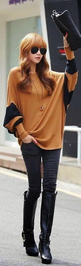 .Black + Camel   Street Style.  dresslily.com.