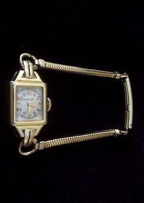 Elegant Vintage Hamilton Gold Filled Ladies Bracelet Wind Up Watch Working