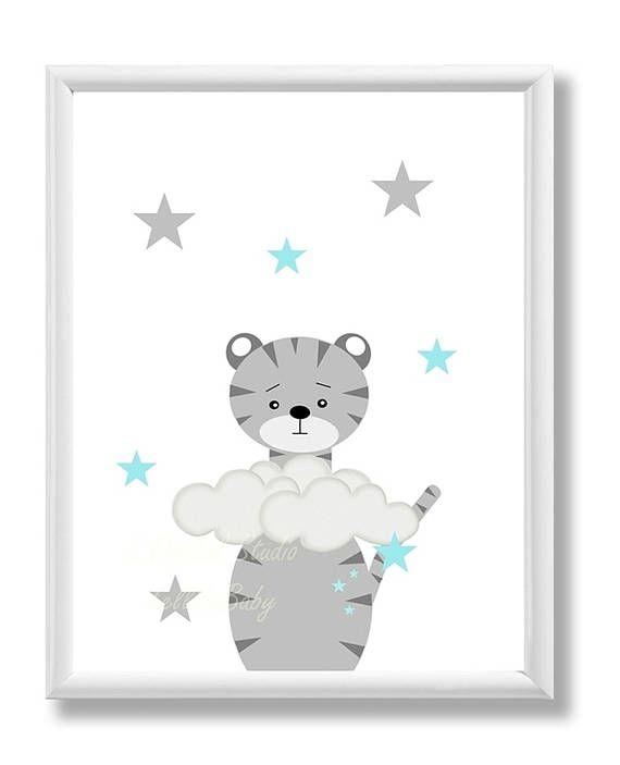 Nursery Decor, Animal Nursery Print, Modern Kids Art Print, Instant Download, Printable Kids Art Decor, Nursery Wall Art Print, 8X10, 11X14,