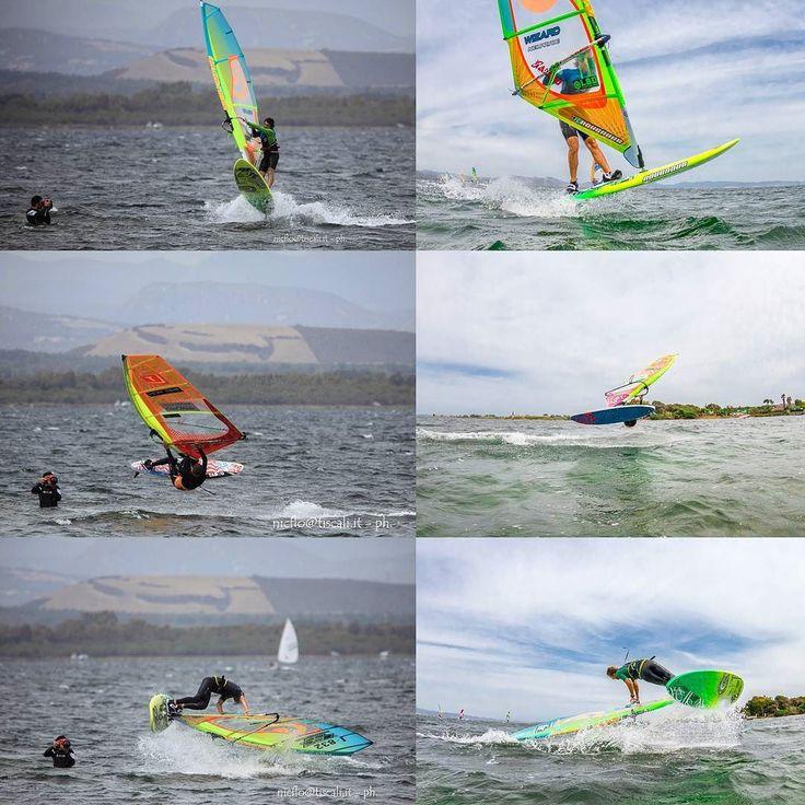 Me shooted vs. The picture I was taking Thanks to @nicola.floris for my pics  #vittoriogreggio #windsurf #sardegna #lovetheocean #whatmakestheocean