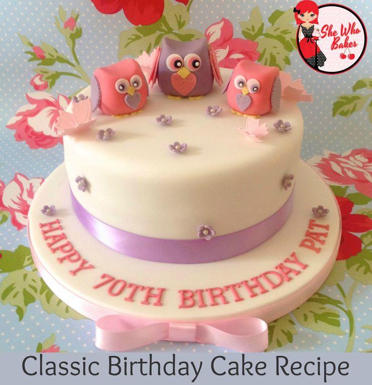 Madeira cake - better for birthday cakes