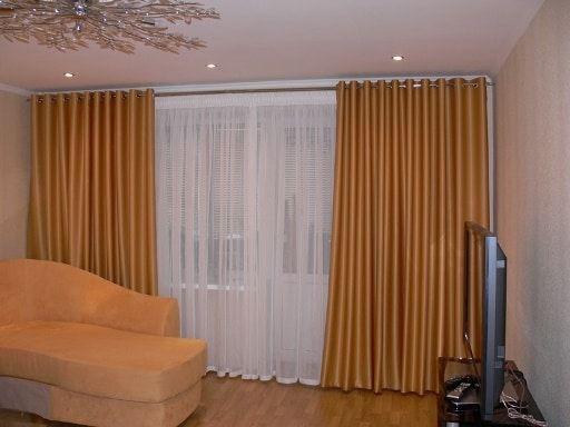 Расчет ткани на шторы с люверсами
