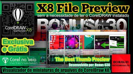 Thumbnail Preview CorelDRAW - Visualizador de Miniaturas de Arquivos .Cdr X8.