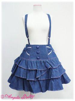 Angelic Pretty / Skirt / Candy Denim Skirt