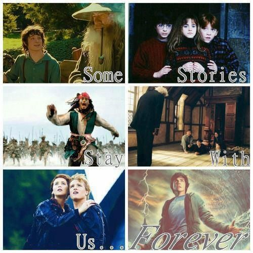 Lord of the rings, Harry potter, pirates of the carribbean ,narnia , the hunger games ,Percy Jackson