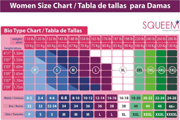weight and dress size chart - Google Search