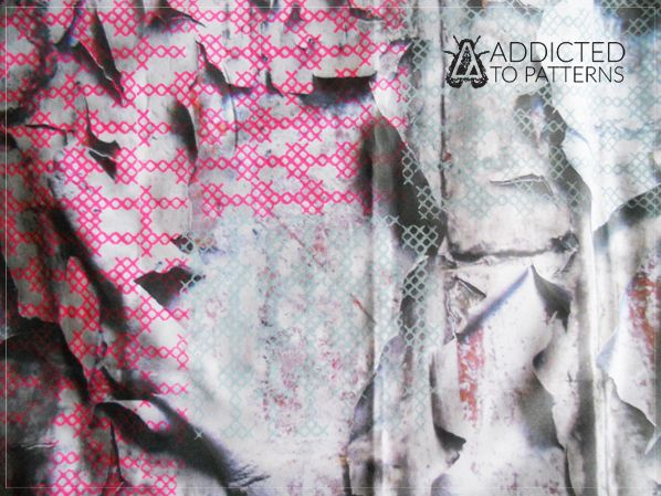 printed fabric digital print & hand screen print ADDICTED TO PATTERN studio / Bristol