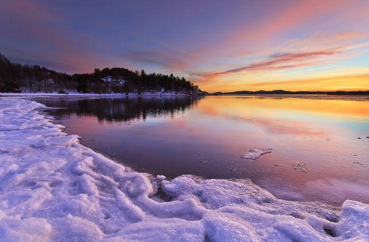Winter Light; Langeby, Sandefjord, Norway