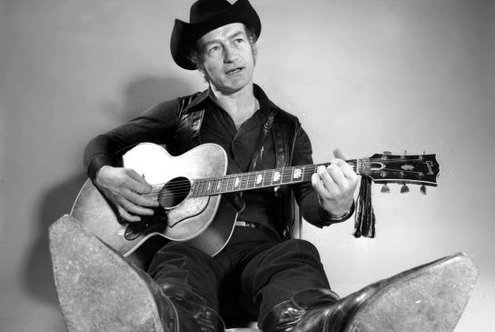 Stompin' Tom Connors as Canadians knew him in 1973. The cowboy boots and cowboy hat were his trademark as he travelled the country singing his homespun tunes about working-class life. Connors, 77, died Wednesday at his home in Halton Hills, Ont.