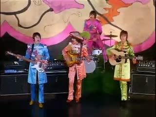 """The Beatles made three promo films for """"Hello Goodbye"""": 1) Wearing the Sgt. Pepper outfits 2) Wearing their own (mod) clothing 3) The Beatles goofing around"""