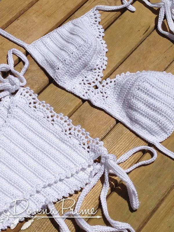 Biquíni de Crochê Pérola | Donna Prime Moda HandMade | Elo7