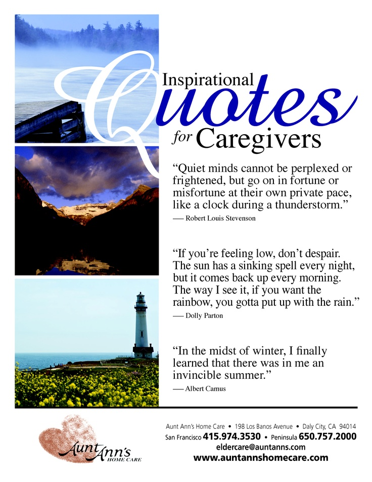 More Inspirational Quotes for Caregivers quotes