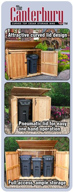 trash and recycling can storage shed - Google Search