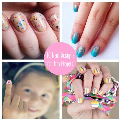 10 DIY Nails- Tiny Fingers - Best 20+ Girls Nail Designs Ideas On Pinterest Girls Nails, Nail