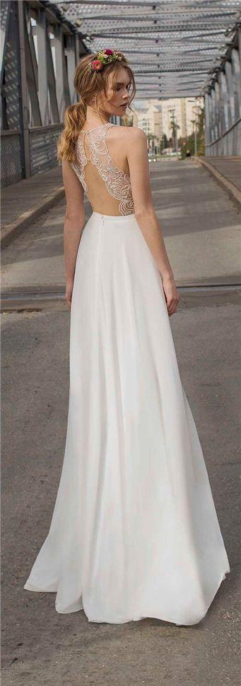 simple wedding dress - open back