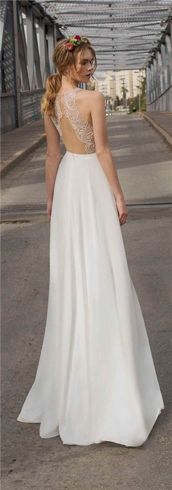 simple wedding dress - open back