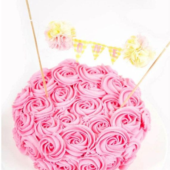 Pink Lemonade Cake Smash First birthday cake by Hartranftdesign, $23.00