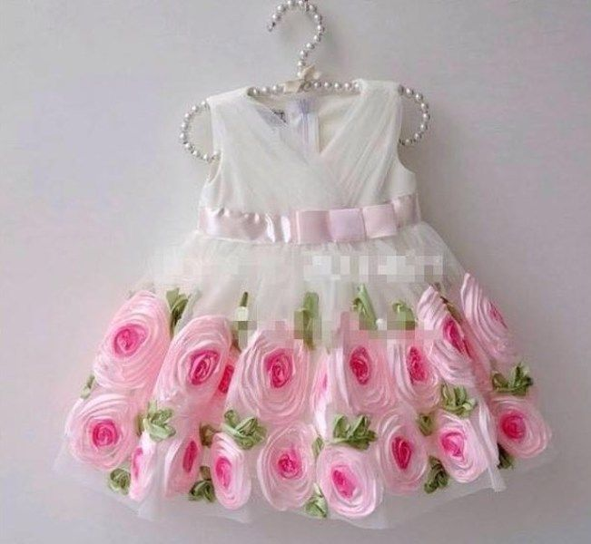white dress for baby girl birthday