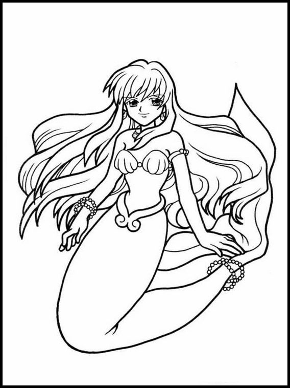 16+ Anime kawaii mermaid coloring pages trends
