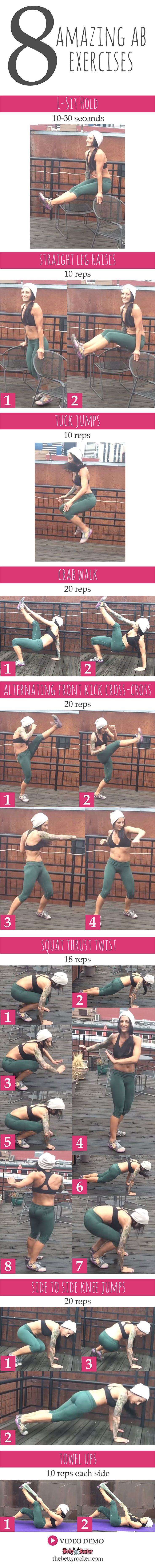 Try this awesome abs circuit - 3 rounds total!