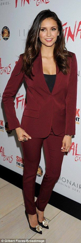 Nina Dobrev shows off her impressive cleavage at The Final Girls premiere | Daily Mail Online