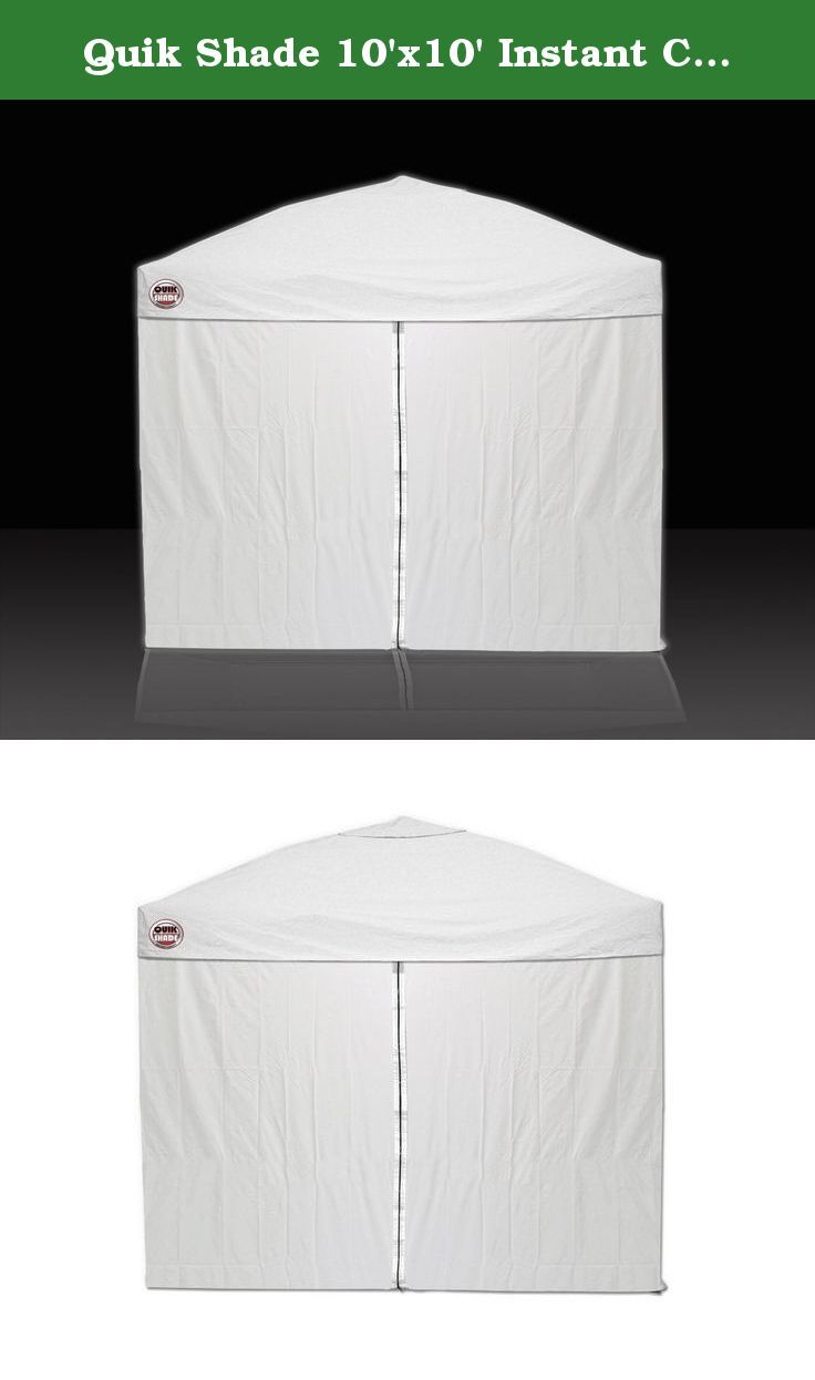 Quik Shade 10'x10' Instant Canopy Wall Panel Set with Zipper Entry. Are you looking for some extra wind protection or privacy for your Quik Shade Instant Canopy? The Quik Shade 10-Foot x 10-Foot Instant Canopy Wall Panel Set is the perfect accessory. The included 3 wall panels and 1 zipper-entry panel offer additional UV protection, water resistance, and cooler shade area for your outdoor activities. Each wall panel attaches easily to the canopy frame with hook and loop fasteners and…