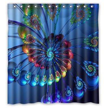Vintage Peacock Bird Feathers Shower Curtain