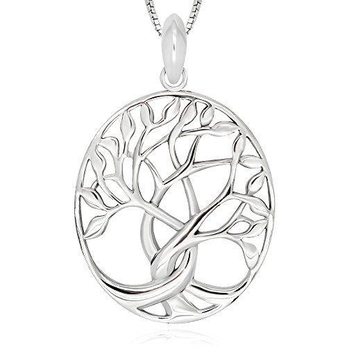 925 Sterling Silver Tree of Life Pendant Necklace 18″ for Women  http://stylexotic.com/925-sterling-silver-tree-of-life-pendant-necklace-18-for-women/