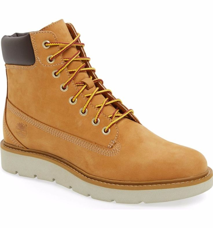 TIMBERLAND SALE Kenniston Lace Up Boot Bootie Hiking Wheat Nubuck Leather 9M #Timberland #AnkleBoots